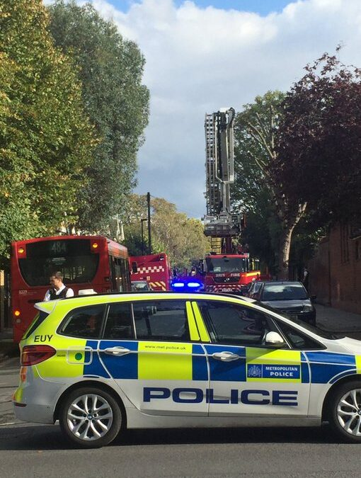 Eleven Police officers suffer chemical injuries following a police operation in Barnet